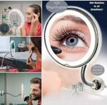 FlexiMirror™: 10X Magnifying Makeup Vanity Mirror With LED Light