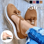 #No.1 Trending | Women's Casual Platform Flat Comfort Fringe Shoes