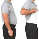 MEN'S BODY SHAPER SLIMMING UNDERSHIRT MEN'S BODY SHAPER SLIMMING UNDERSHIRT XXL / WHITE