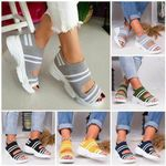 Casual Woven Wedge Comfy Open Toe Sandals