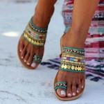 "OBVIERâ""¢ Ethnic Boho Style Toe Ring Sandals"