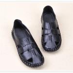 Hook Loop Wedge Close Toe Sandals