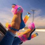 Obvier™ Colorful Stylish Furry Fur Heels High-end Shoes