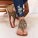 "OBVIERâ""¢ Retro Leopard Women Fashion Gladiator Comfy Sandals"