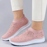 Kafa™ Women's Crystal Breathable Orthopedic Slip On Walking Shoes