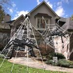 """CREEXâ""""¢ Halloween Decoration Giant Spider & Spider Web (BUY 2 FREE SHIPPING)"""