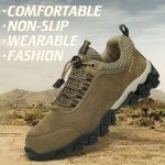 OBIVER™ Men Outdoor Slip Resistant Lace Up Suede Hiking Shoes【BUY 2 FREE SHIPPING】