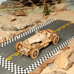 Classic DIY Movable 3D Wooden Car Puzzle Game Assembly - Best Seller