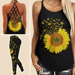 Sunflower Weed Criss-cross Tanktop and Legging set