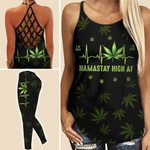 Namastay High Weed Criss-cross Tanktop and Legging set