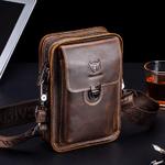 Herman™ - Men's Crazy Horse Leather Fanny Pack Small Shoulder Waist Bag