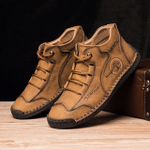 "Jeffreyâ""¢- Dacomfy Men Vintage Hand Stitching Comfort Soft Leather Boots"
