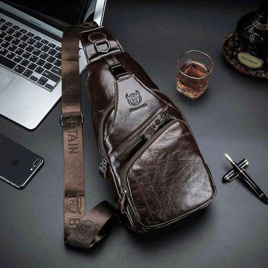 Carlos - Bull Captain Genuine Leather Men Sling Bags (2 Sizes)