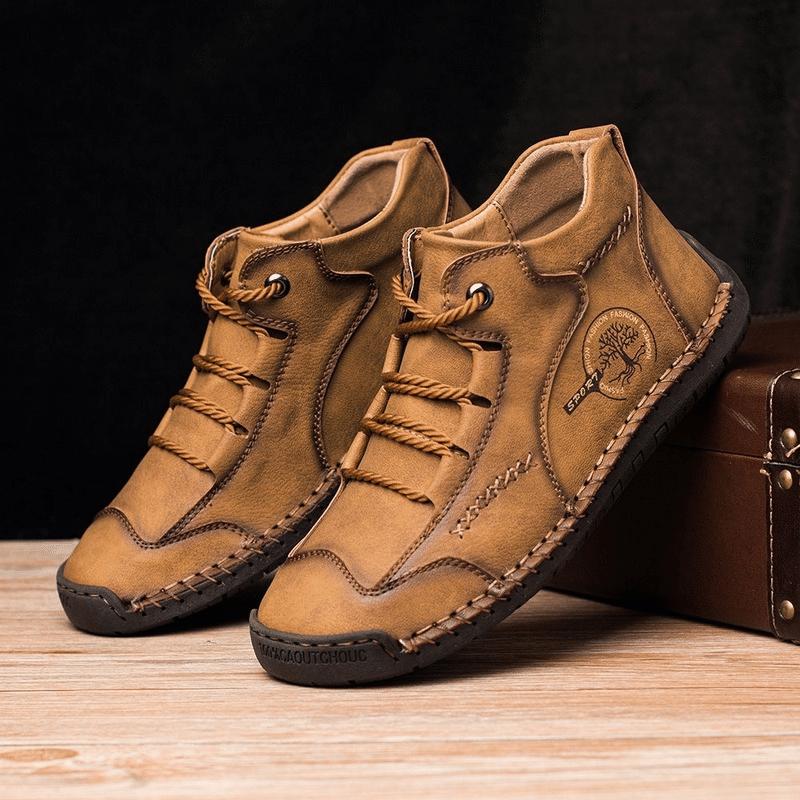 Jeffrey™- Dacomfy Men Vintage Hand Stitching Comfort Soft Leather Boots