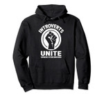Introverts Unite Introverted Gift Pullover Hoodie, T-Shirt, Sweatshirt, Tank Top