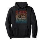 Age 18 Years Of Awesome Birthday Countdown 18th Bday Themed Pullover Hoodie, T-Shirt, Sweatshirt, Tank Top