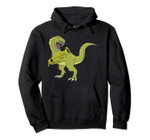 Funny T-Rex Dinosaur Playing Tuba Gift For Low Brass Players Pullover Hoodie, T-Shirt, Sweatshirt, Tank Top