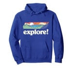 Explore! Tennessee Cool Outdoor Nature Retro Graphic Pullover Hoodie, T-Shirt, Sweatshirt, Tank Top