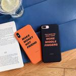 Art Retro letter Korean Orange Phone Case