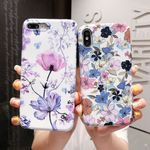 Art Flowers Phone Case Floral Protective Back Cover