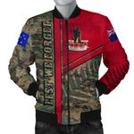 Anzac New Zealand Men Bomber Jacket Lest We Forget Camo - Road to Peace K4
