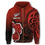 Lest We Forget Maori Poppy Flowers Zip Hoodie - Customized K50