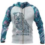 Aotearoa Maori Bulldog Zip Hoodie, Paua Shell Bulldog Tattoo Full Zip Hoodie K5