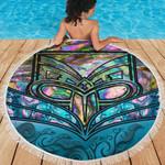 Beach Blanket NZ Maori Warriors Paua Shell K4