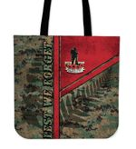 Anzac New Zealand Tote Bag Lest We Forget Camo - Road to Peace K4