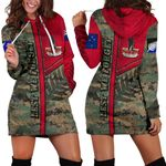 Anzac New Zealand Women Hoodie Dress  Lest We Forget Camo - Road to Peace K4