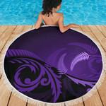 Beach Blanket NZ Silver Fern Purple L14