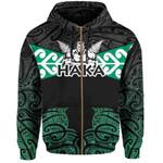 Aotearoa Rugby Zip Hoodie - Kia Kaha Stay Strong Th00