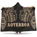Aotearoa Maori Tattoo Hooded Blanket K4
