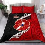 Anzac New Zealand Bedding Set - Lest We Forget Poppy Map Silver Fern NZ K4