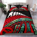 Anzac New Zealand Bedding Set, Poppies Lest We Forget Maori Duvet Cover Soldiers Paua K4