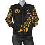 New Zealand Jackets, Maori Silver Fern Women's Bomber Jackets K5