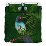 New Zealand Bedding Set, Huia Bird Duvet Cover And Pillow Case K5