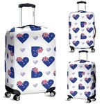 New Zealand Flag Heart Luggage Cover, New Zealand Suitcase Covers K5