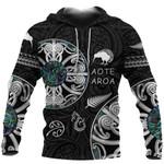 New Zealand Aotearoa Hoodie, Maori Mangopare Paua Shell Pullover Hoodie K4