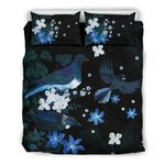New Zealand Bedding Set, Native Bird Duvet Cover And Pillow Case K5