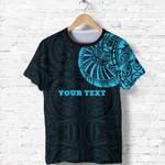 Maori Warrior Tattoo T Shirt Blue - Customized A75