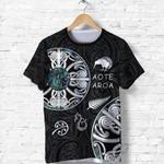 New Zealand Aotearoa Shirt, Maori Mangopare Paua Shell T Shirt K4