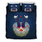 New Zealand Bedding Set, Tui Bird Duvet Cover And Pillow Case K5