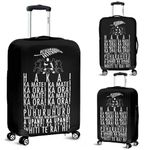 New Zealand Luggage Cover, Haka Silver Fern Suitcase Covers K5