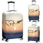 New Zealand Luggage Cover, Heartbeat Silver Fern Suitcase Covers K5