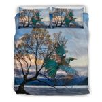 New Zealand Bedding Set, Tui Bird Duvet Cover And Pillow Case K5