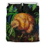 New Zealand Kiwi Bird Bedding Set, Silver Fern Duvet Cover And Pillow Case K5