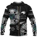 New Zealand Aotearoa Zip Hoodie, Maori Mangopare Paua Shell Zipper Hoodie K4