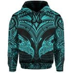 New Zealand Hoodie The Mana Maori All Over Hoodie (Blue) TH5