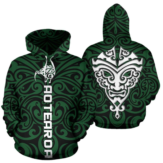New Zealand Kiwi Hoodie, Maori Warrior Moko Pullover Hoodie K4